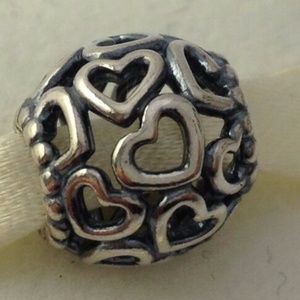 PANDORA Open Your Heart Sterling Silver Bead Charm